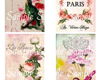 Postcard Flowers No 8 Cards Postcards Tags Scrapbooking Journaling Paer Art Mothers Day Birthday