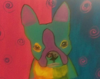 Boston terrier abstract
