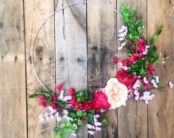 Summer Door Wreath, Front Door Wreath, Summer Wreath, Door Wreath, Metal Wreath, Wedding Wreath, Summer Wreaths, Wreath For Door, Home Decor