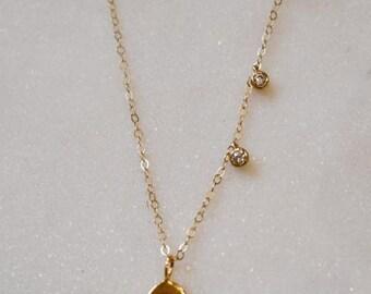 Gold Evil Eye Necklace-gold necklace, evil eye, dainty necklace, layering necklace, evil eye jewelry, layering necklace