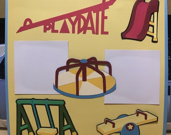 Play Date 12x12 Scrapbook Page