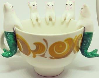 Prrrmaid cat mermaid tea buddy