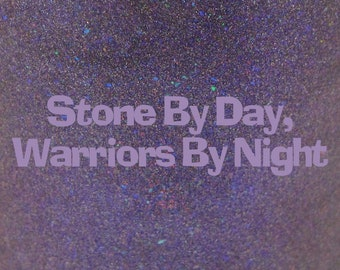 """Stone By Day, Warriors By Night shimmer holographic nail polish 15 mL (.5 oz) from the """"Disney Afternoon"""" Collection"""