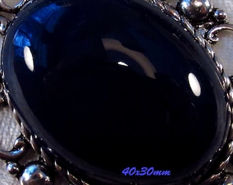 40x30mm - Midnight Blue - Acrylic Cabochon - 1 pc : sku 03.10.13.4 - Q10