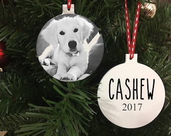Personalized Photo Pet Ornament - Custom Ornament - Pet Sympathy Gift - Memorial Pet Ornament - Gift for Pet Owner - custom