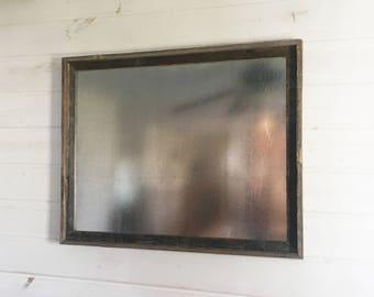 "22x28"" Steel Metal Magnet Board in Reclaimed Barnwood Frame - Rustic Bulletin Board"