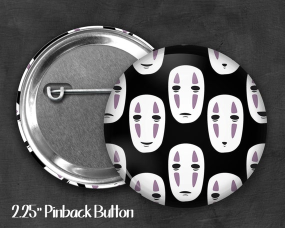 "2.25"" No Face Pinback Button, Geek Button, Geekery, Button, Kawaii Button, Badges, Flare, Fanart, Fandom, Pin"