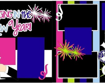 """Scrapbook 2 Page Layout """"Ringing in the New Year"""""""