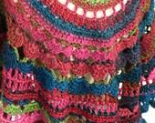 Shawl, wrap, scarf. Croch...