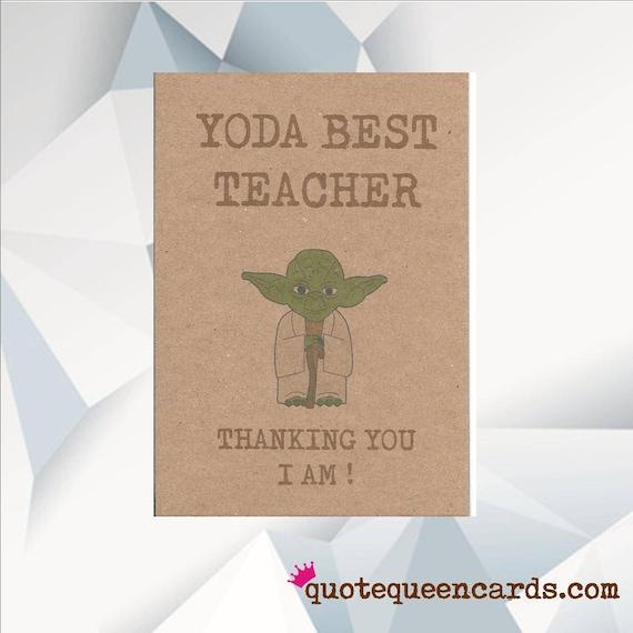 YODA BEST TEACHER Thanking You I Am / Star Wars Yoda Card /
