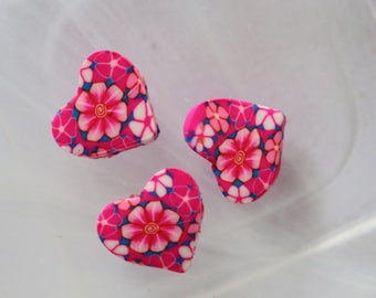 Pearl Pink polymer heart