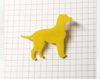 Labrador Brooch - Laser Cut Acrylic