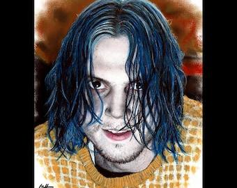 "Print 8x10"" - Kai Anderson - American Horror Story Cult AHS Evan Peters Clown Murder Dark Art Mental Illness Horror Halloween Scary Pop Art"