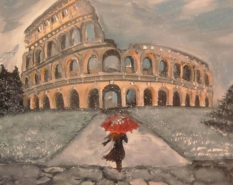 Snow is in Rome