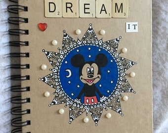 Disney Mickey Mouse quote notebook A5