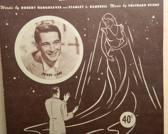 Vintage Sheet Music for 'If' Perry Como