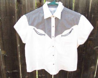 Western Shirt Crop Top
