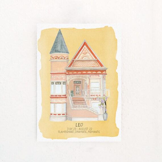 Leo Houses of the Zodiac Print
