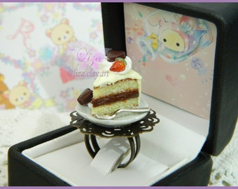 Cake Ring / Kawaii Ring / Miniature Food Ring /