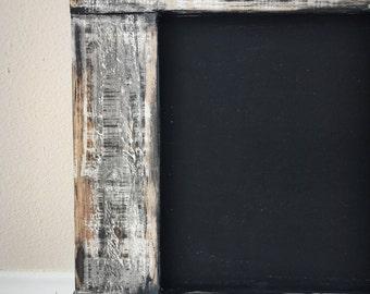 Large Framed Chalkboard - Rustic Framed - Reclaimed wood in a dark stain -