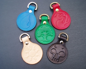 Magic the Gathering Land Symbol Keyrings and Patches