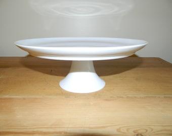 White Porcelain Pedestal Cake Stand~Heinrich Germany