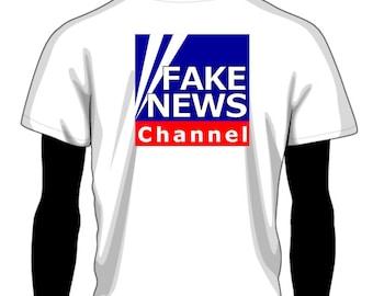 Fake News T Shirt - FREE SHIPPING | Fox News Fake News Shirt | Trump Fox News Shirt | Alternative Facts Satirical Political Clothing