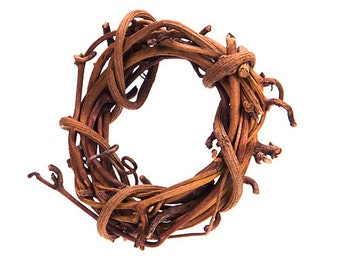 """2"""" Natural Grapevine Wreath- SET OF 6- Shabby Rustic Wedding Party Home Decor"""