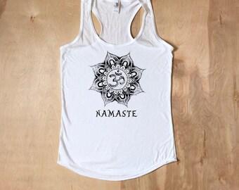 Namaste, Namaste Shirt, Yoga Shirt, Yoga Tank, Workout Apparel, Namaste Tank, Namaste Tshirt, Gym Shirt, Yoga, Gifts For Her, Fitness Shirt