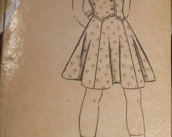 Vintage 1940s Mail Order 8746 Sewing Pattern Size 12 year