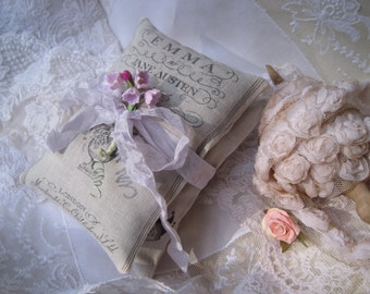 2 Jane Austen lavender sachets gift set, Mother's Day, FREE USA SHIPPING, Emma and Pride and Prejudice, birthday, shower, guest favors