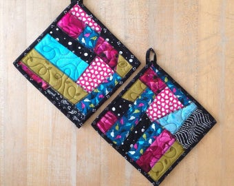 Pair of Quilted Potholders
