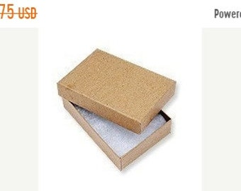 TAX SEASON Stock up 20 Pack Kraft 3.25X2.25X1 Inch Sized Cotton Filled Jewelry Presentation Boxes