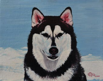 Hasschi oil painting on canvas ready to hang / hipper-realism / animal