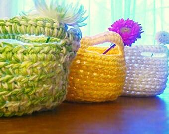 Spring Bundle Portly Crochet Baskets