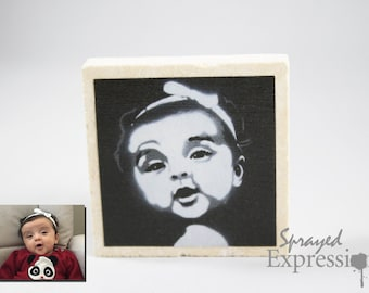Custom Portrait Magnet, Made to Order
