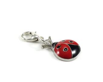 SALE Ladybug Purse Charm Zipper Pull Clip On Charm