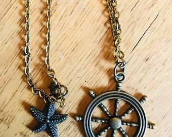 Ships Wheel Necklace
