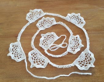 Crochet Bunting -  Crochet Garland - Doily - Decoration
