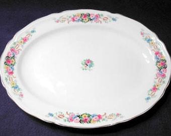 Vintage Edwin Knowles Large Platter, Pattern 732e1