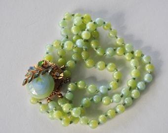 Miriam Haskell Type Decorative Beaded Bracelet