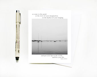 SALE! Mary Oliver Greeting Card // Empathy Greeting Card // Mary Oliver Quote Card