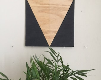 "Black Triangle 005, 8""x8"" painting on oak plywood"