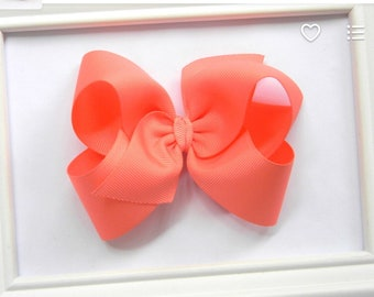 4 inch coral boutique bow