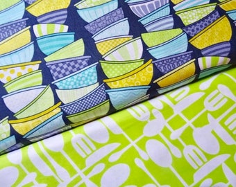 Kitchen Couture Fabric by Timeless Treasures Fabric, Full Yard Set, 2 Yards Total
