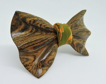 Wooden Bow Tie , Bocote wood Bow Tie,