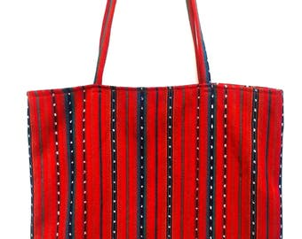 Red Stripe Tote Bag