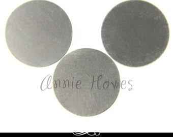 """Nickel Silver 1"""" Circle  Blanks. 5 Pack. 24ga MET-600"""
