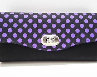 Purple Spot NCW Ladies Clutch Wallet