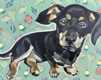 Custom Original oil painting of your pet (Chloe Sample)